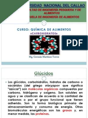 grupo funcional de los carbohidratos pdf