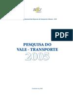 2005 - Pesquisa Do Vale-Transporte