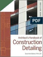 Architect Handbook of Construction Detailing by David Kent Ballast