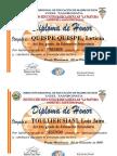 Diploma DeHONOR Secundariapastora