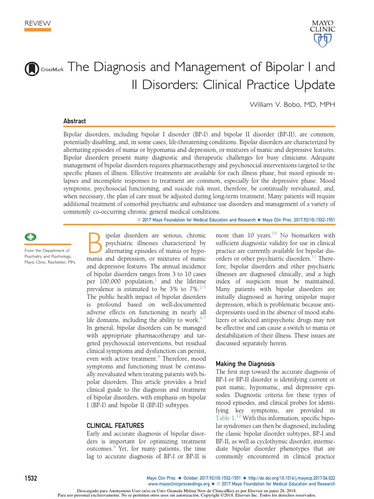3  Diagnosis Management of Bipolar i and II Clinical Practice Update