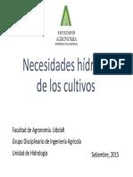 Necesidades Hidricas de Cultivos Intensivos2015