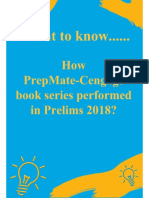 How PrepMate - Cengage Book Series Performed in Prelims 2018