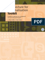 Architecture for Personalisation Toolkit