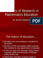 A History of Research in Mathematics Education1