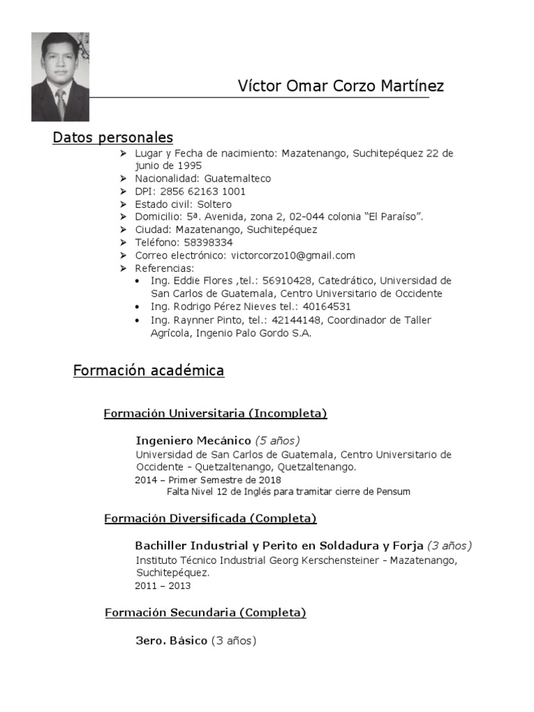Curriculum Actualizado