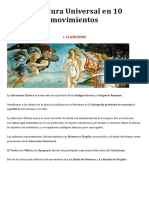 3. Literatura Universal en 10 Movimientos