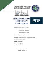 INFORME Transporte de Liquidos y Bombas