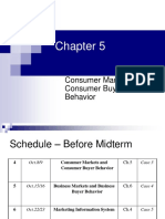 CH05 - Consumer Markets and Consumer Buyer Behavior (1)