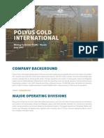 Polyus Gold International Customer Profile-June 2017