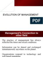 Evolution of Management - By shahid ELIMS