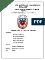 Valvula Check Informe