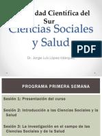 Ciencias Sociales y Salud. Clase 01