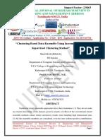 """Clustering Based Data Ensemble Using Incremental Semi Supervised Clustering Method"""