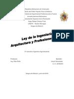 Ley de Ls Ingenieria Arquitectura y Profesiones Afines