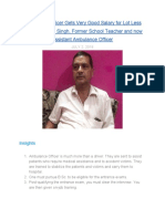 Ambulance Officer Gets Very Good Salary for Lot Less Work—Rakesh Singh, Former School Teacher and now Assistant Ambulance Officer Mentions in Conversation with MentorClub.in