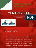 ENTREVISTA'' DE ACUERDO A LA METODOLOGÍA DE LA INVESTIGACIÓN.