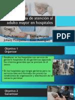 Sub-programa de Atención Al Adulto Mayor en Hospitales
