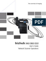 Bizhub 362 282 222 Network Scanner Operations