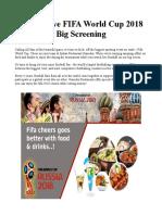 Watch Live FIFA World Cup 2018 Big Screening