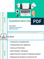 How to Develop the Questionnaire