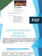 Obras Provisionales - Trabajos Preliminares