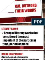 Canonical Authors and Their Works