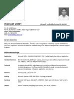 Resume_Prashant Morey - System Admin