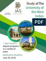2018 OAS - UWI Scholarship Announcement