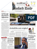The Stanford Daily, Sept. 28, 2010
