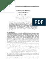 Modern Control Theory History