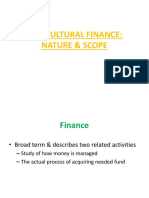 7 Agricultural Finance