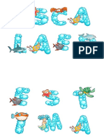 Letras Fondo Del Mar