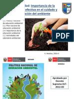 Educación Ambiental y Calendario Ambiental