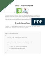 interface C++ and java through JNI