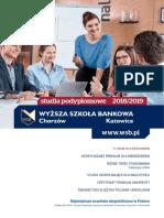 informator 2018 - studia podyplomowe WSB w Chorzowie
