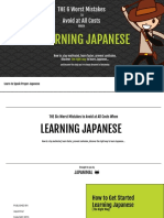 6 Worst Mistakes to Avoid When Learning Japanese