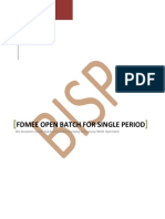 FDMEE Open Batch for Single Period
