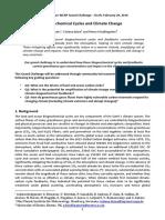 Biogeochemical Cycle & Climate Change
