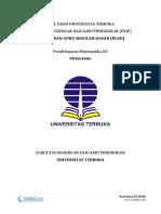 Soal Ujian UT PGSD PDGK4406 Pembelajaran Matematika SD Lengkap dengan Kunci Jawaban