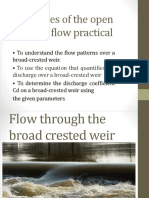 Ghanim- Objectives of the Open Channel Flow Practical