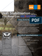 Peter Cox - Anchorbond Wall Stabilisation - Datasheet Leaflet