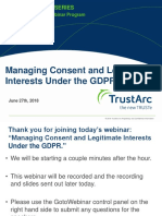 GDPR Consent Management and Legitimate Interests Insight Webinar TrustArc
