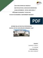Informe Final de Practicas Profesionales David Alexander Quintero Cifuentes HJGH
