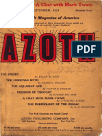 Azoth, October 1919