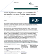 Impact Gestational Weight Obese Woman