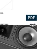 Klipsch Rf-3 II Floorstanding Speaker - Owner's Manual