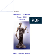 The TESOL Law Journal Vol1
