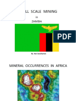 Small Scale Mining in Zambia