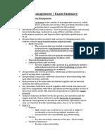 Operations Management - Exam Summary